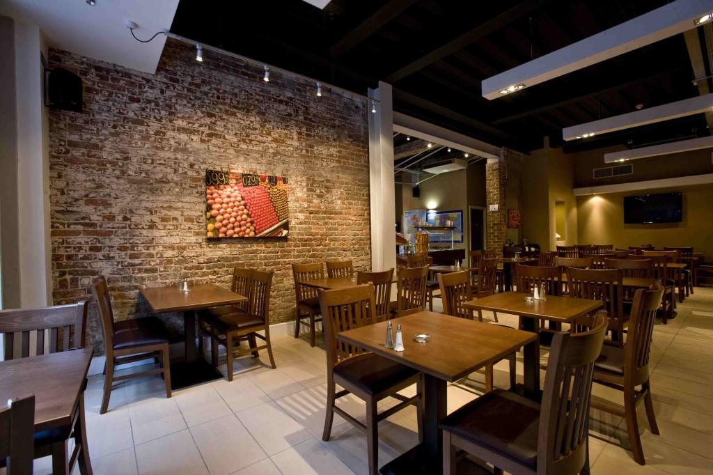brick and mortar restaurant interior