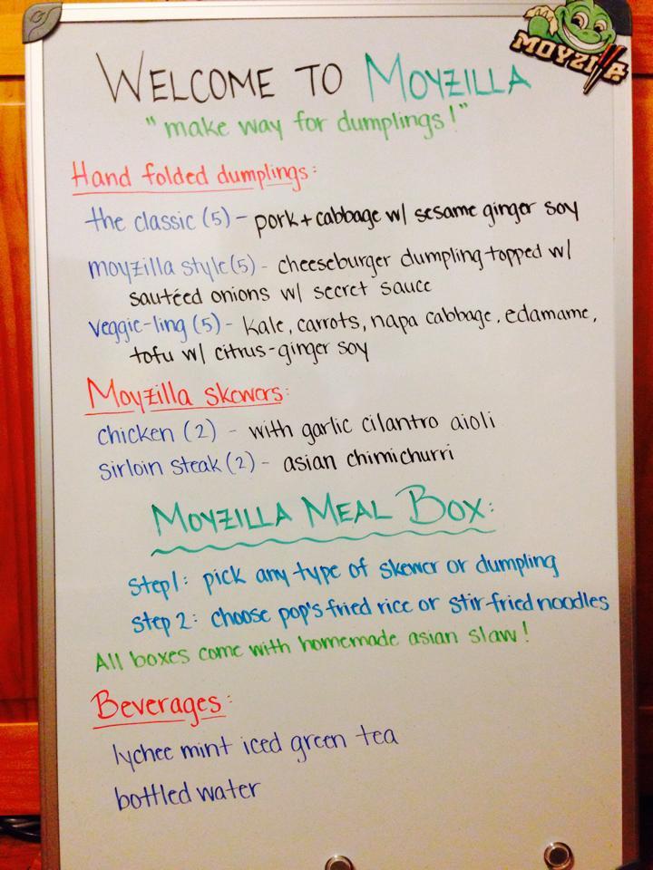 Moyzilla menu