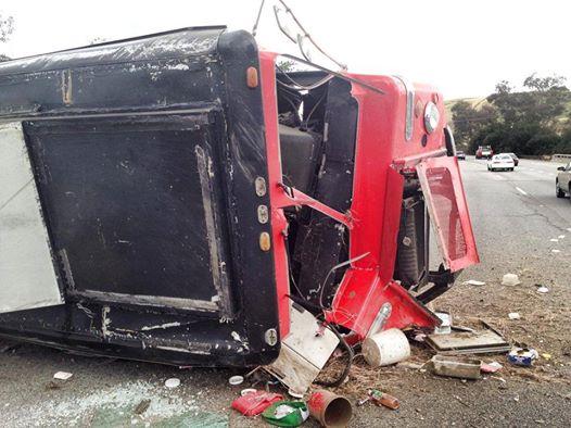 Treatbot Truck in Freeway Crash