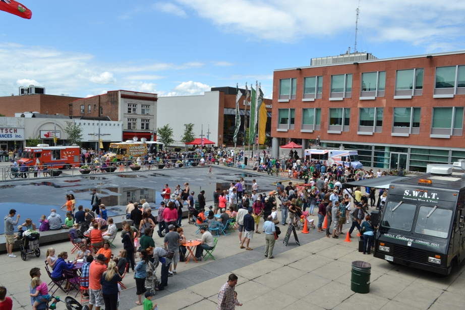 Food Truck Fest in Kitchener's Civic Square