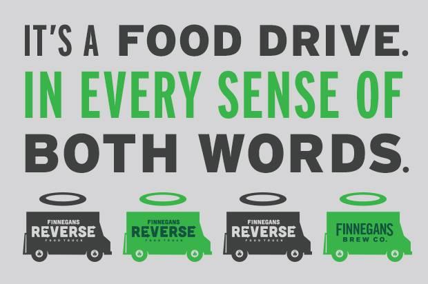 Finnegans food drive promo
