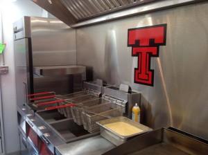 Streat truck's kitchen.