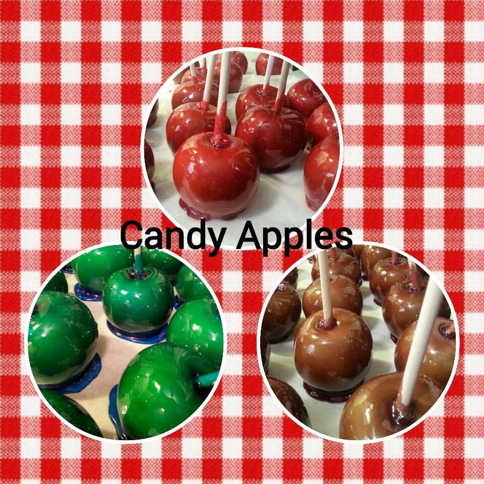 Blue Raspberry candy apple