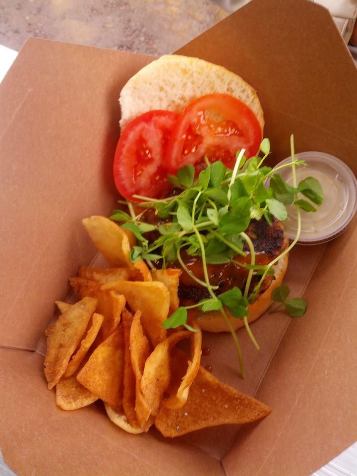 Rhubarb BBQ Berkshire Burger