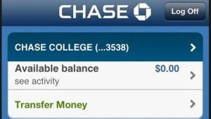 chase bank balance